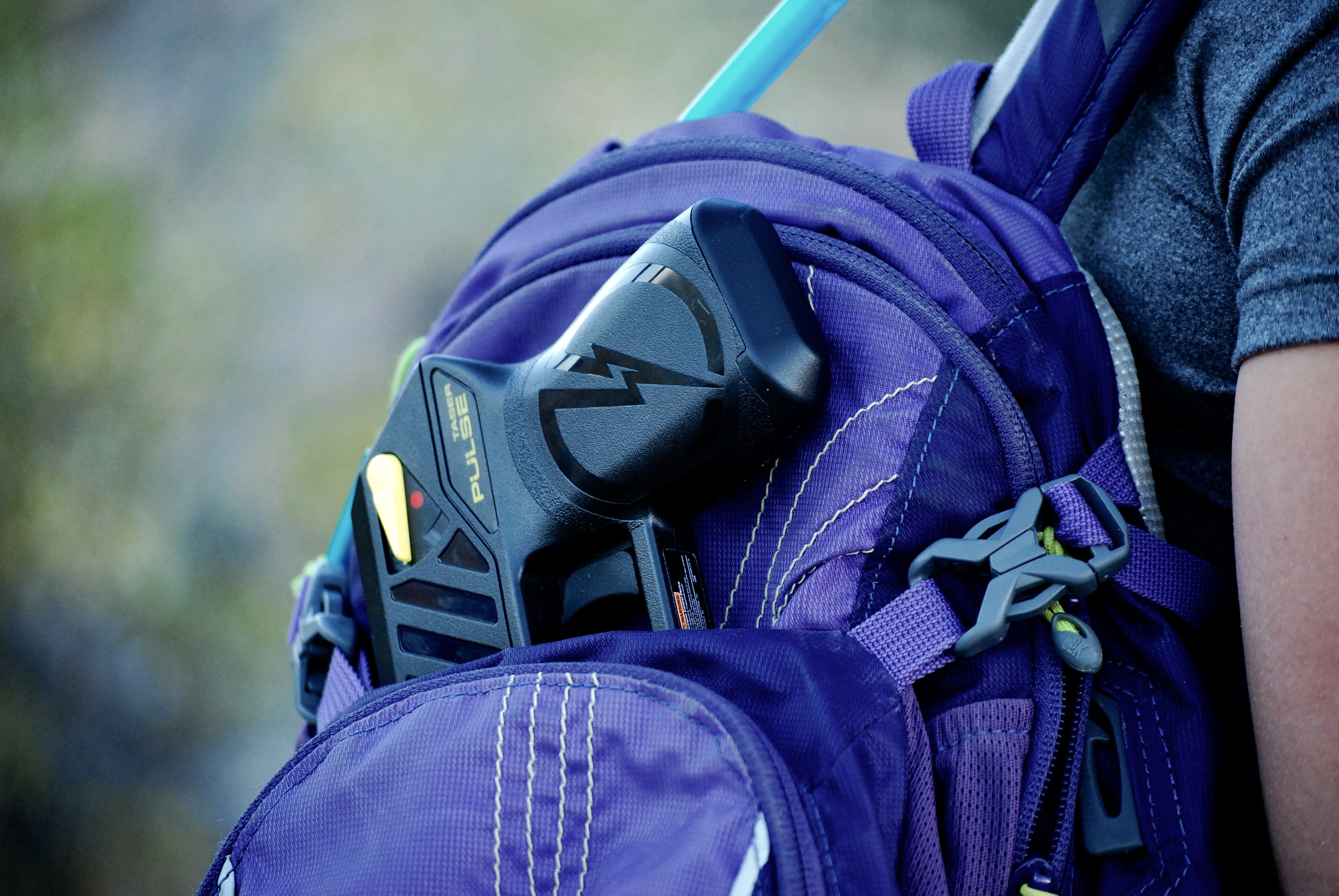 Purple Backpack TASER Pulse