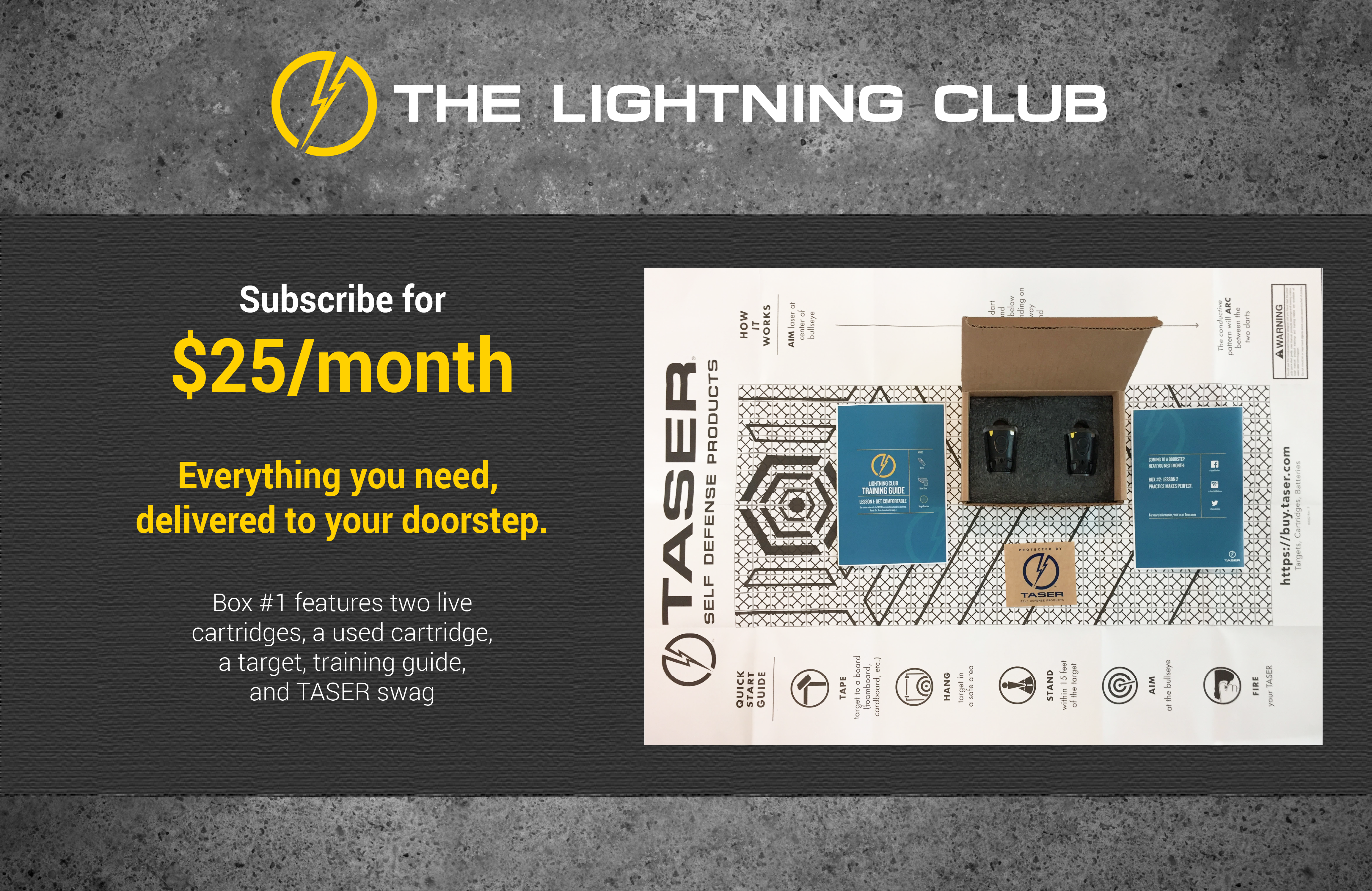 TASER The Lightning Club